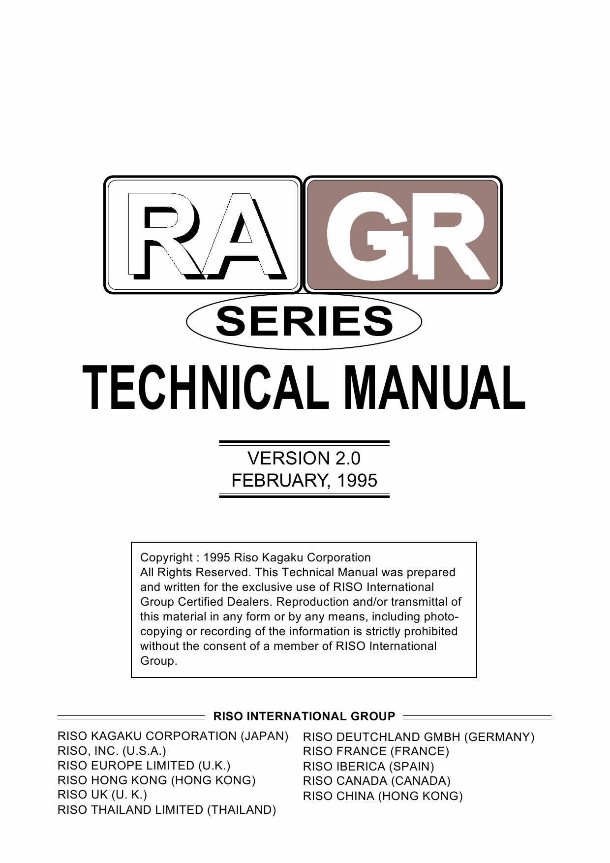 RISO RA 4200 4900 5900 GR 3750 2750 2710 1750 1700 TECHNICAL Service Manual-1